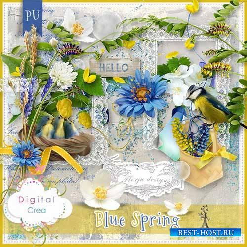 Весенний скрап-комплект - Голубая весна