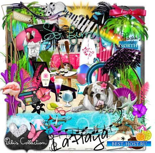 Яркий пляжный скрап-комплект - La Playa