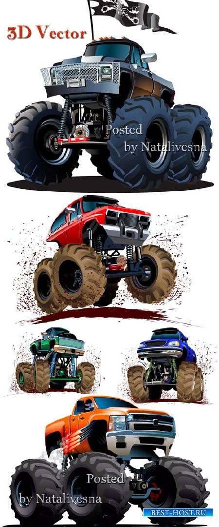 3D Машинки в Векторе