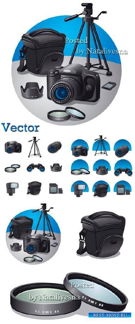 Иконки в Векторе – Фотоаппарат и аксессуары