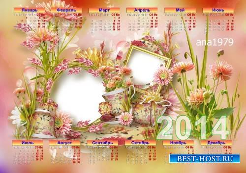 Календарь на 2014 год – Летние цветы