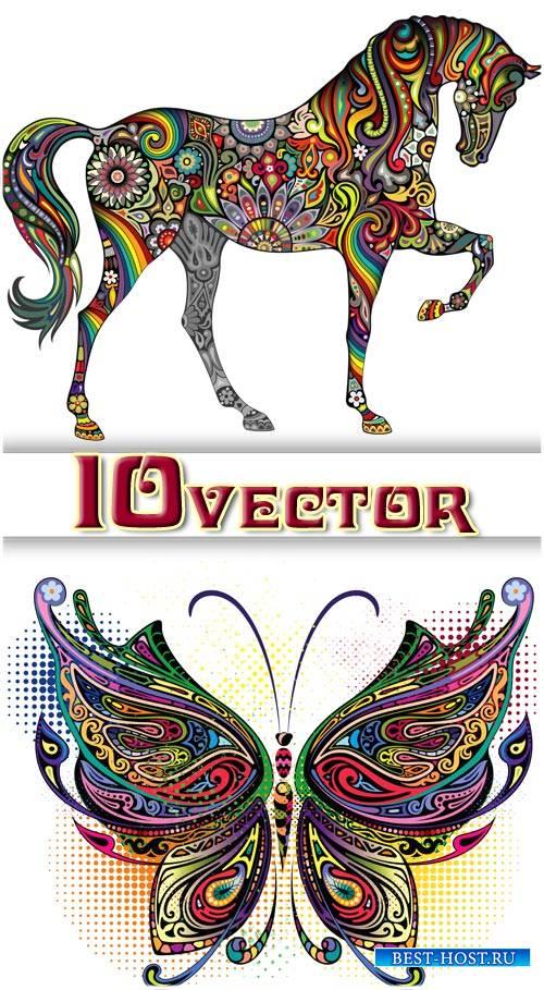 Животные, креатив - вектор