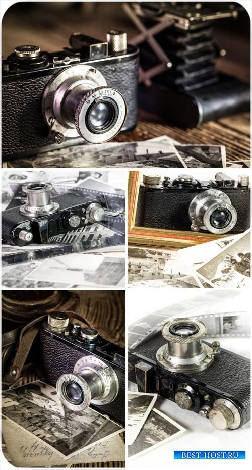 Раритетные и старинные фотоаппараты - сток фото