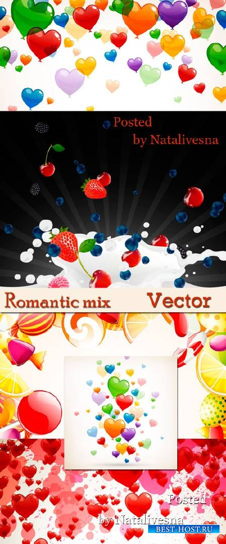 Векторные фоны - Романтичный микс