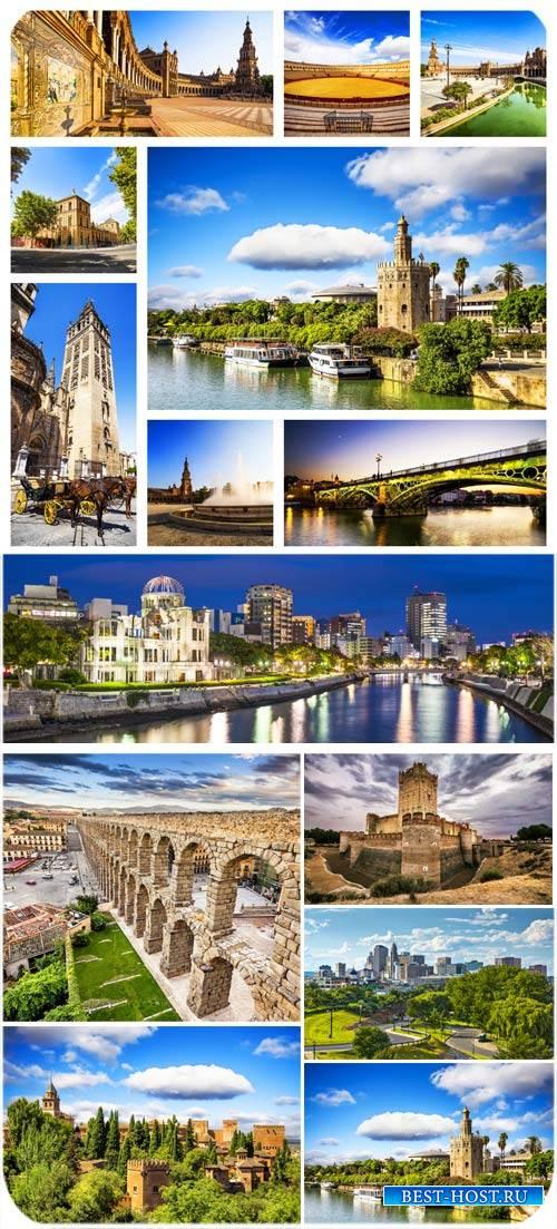 Архитектура, старинные замки, мосты, города - сток фото