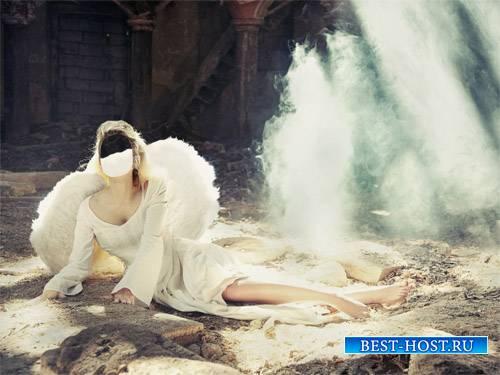 Шаблон для девушек - Ангел с крыльями упала с небес