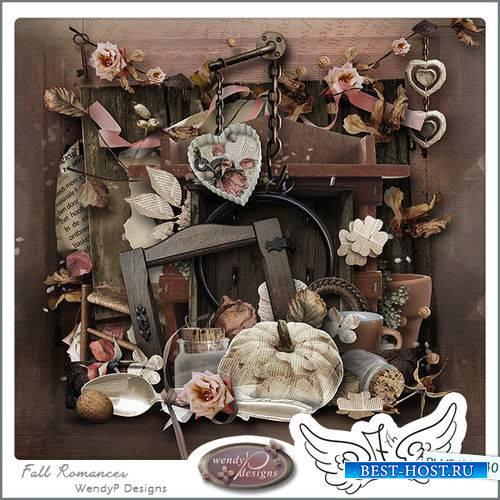 Романтический скрап-комплект - Осенний романс