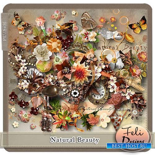 Прекрасный цветочный скрап-комплект - Естественная красота