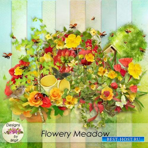 Цветочный летний скрап-комплект - Цветочный луг