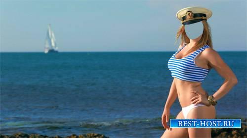 Шаблон женский - Морячка на причале