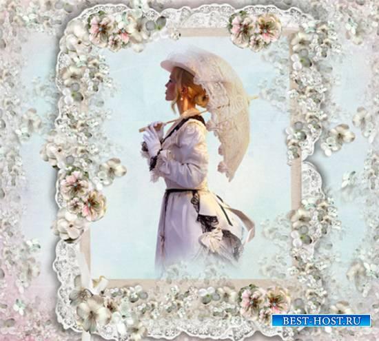 Рамка женская - Весну любви один раз ждут