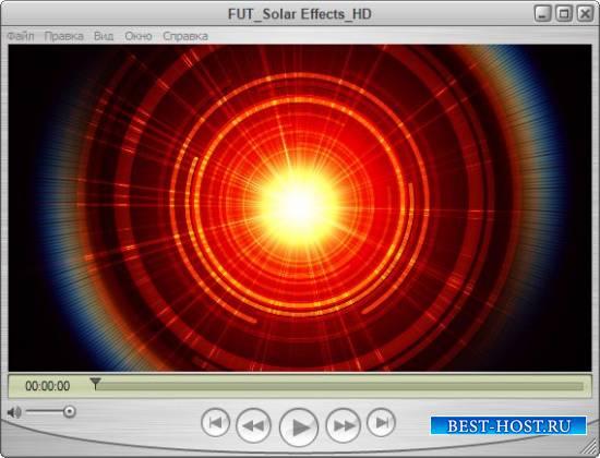 Для оформления видео футаж - Эффекты солнечные