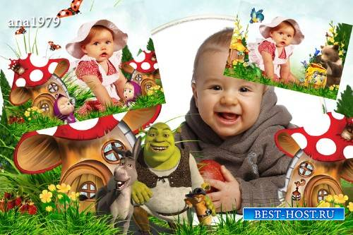 Рамка для фотошопа - Детство