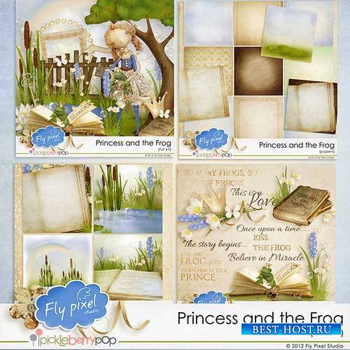 Сказочный детский скрап-комплект - Принцесса и лягушка