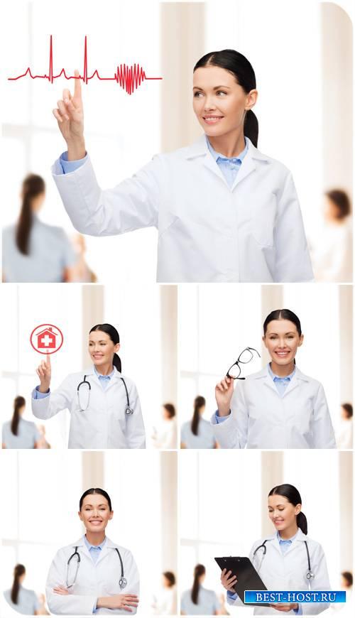 Девушка врач, медицина , - сток фото