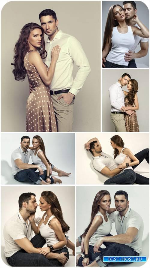 Мужчина и женщина, влюбленная пара - сток фото