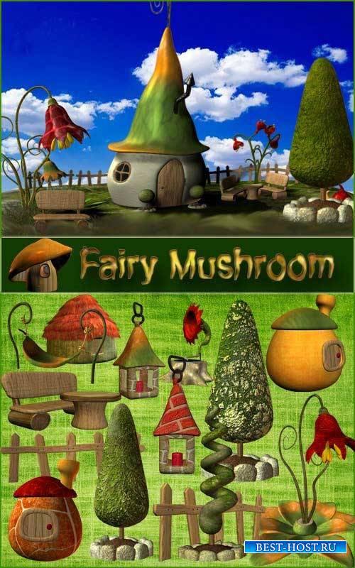 Сказочный скрап-комплект - Fairy Mushroom
