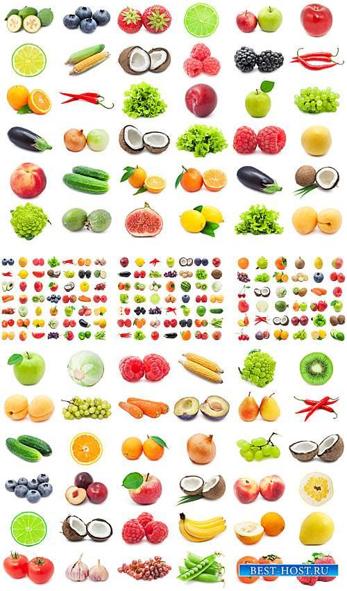 Фрукты, овощи, ягоды - сток фото