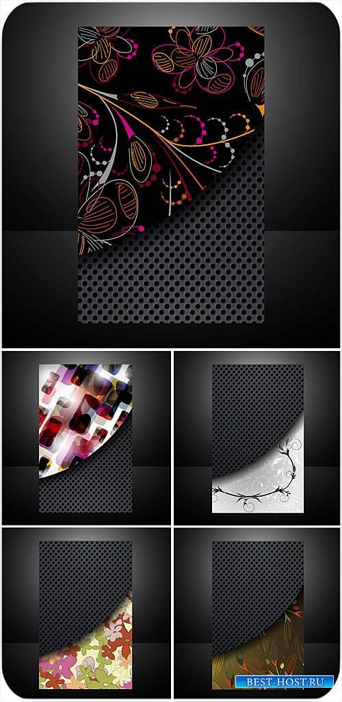 Креативные векторные карточки с цветочным узором