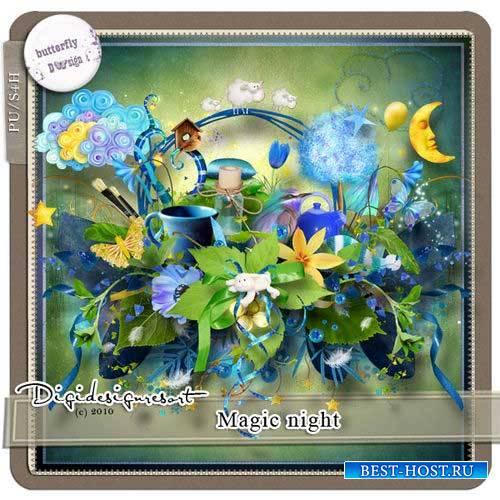 Детский скрап-комплект - Волшебная ночь