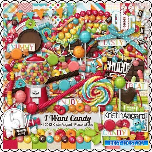 Детский скрап-комплект - Я хочу конфеты