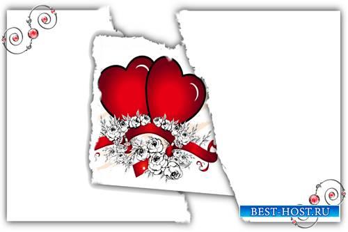 Романтическая фоторамка - Два сердца бьются как одно