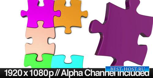 Colorful Jigsaw Puzzle Coming Together VideoHive (Motion Graphics)