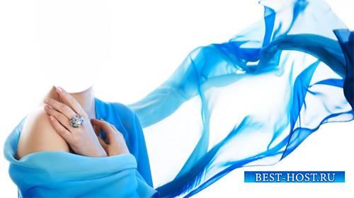 Женский шаблон - В красивом голубом платье