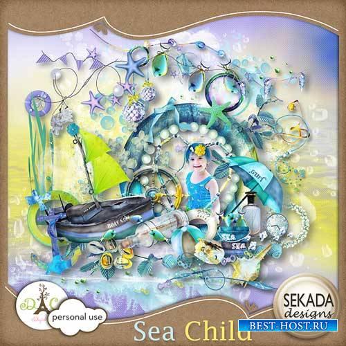 Детский морской скрап-комплект - Детское море