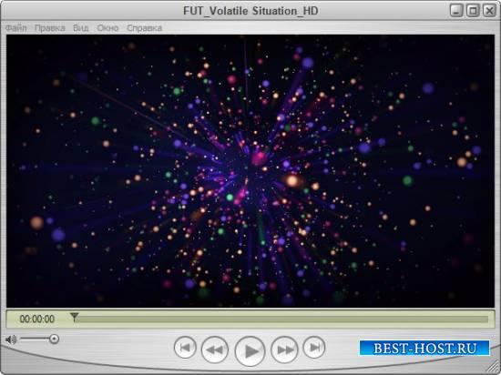 Абстакция футаж - Небо в звездах