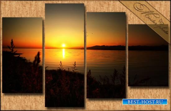 Модульная картинка в PSD формате - Летний закат