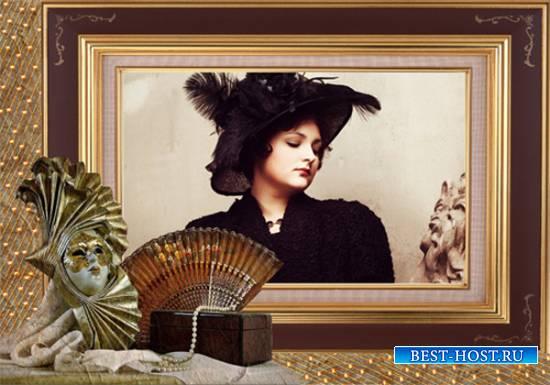 Рамка женская - Нитка жемчуга