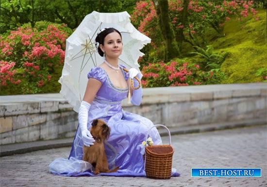 Шаблон  женский - В цветущем парке