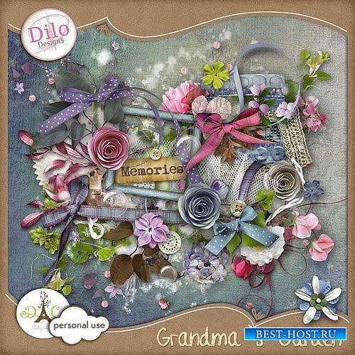 Романтический винтажный скрап-комплект - Бабушкин сад