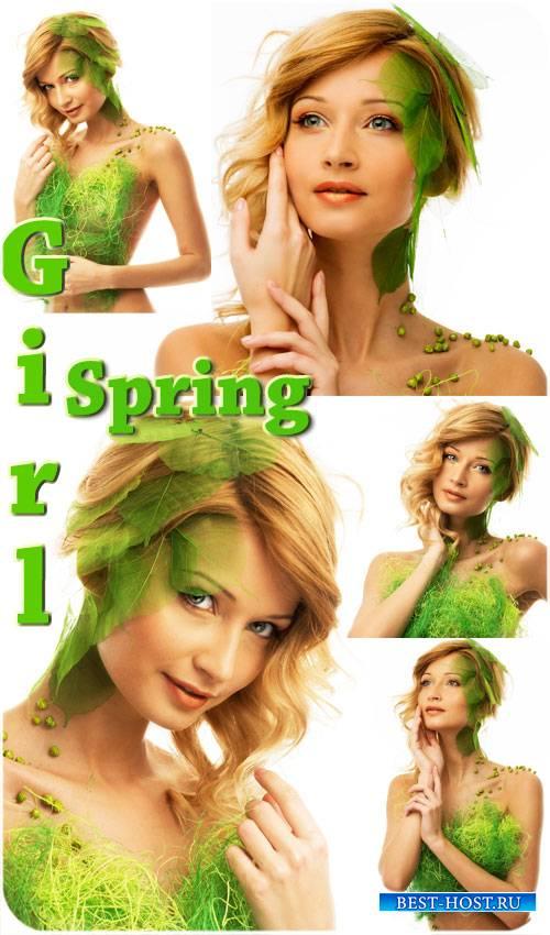 Девушка-весна, креативный сток фото