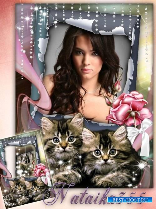 Рамка для фото - Наш котёнок цап-царап