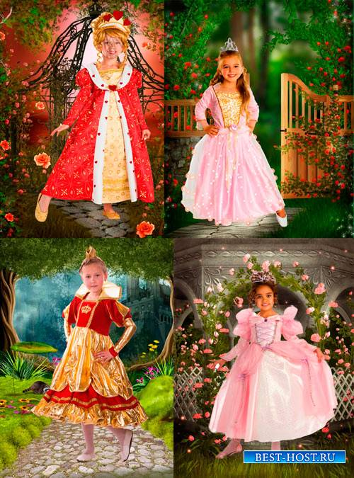 Шаблоны для фотошопа  - Принцессы