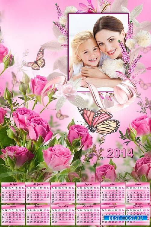 Календарь на 2014 год – Розы для мамы