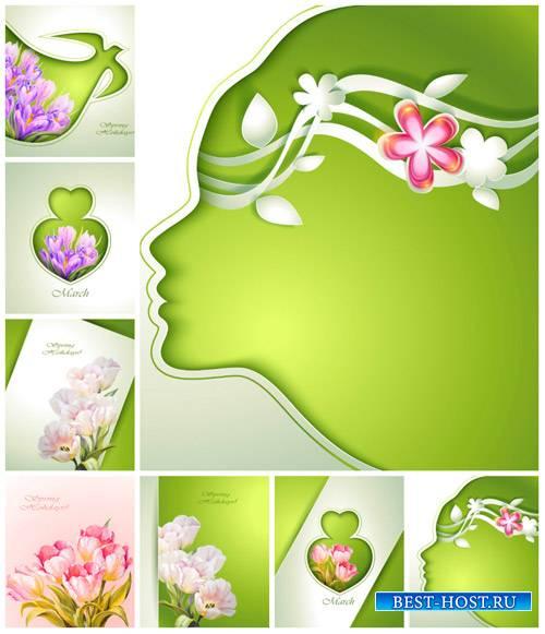 Весенние креативные фоны, цветы