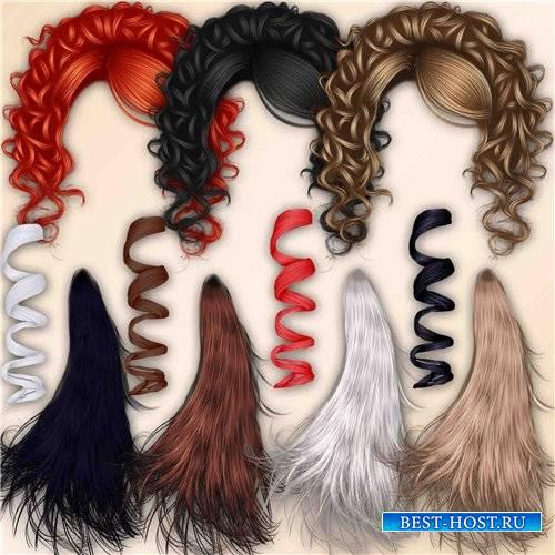 Высококачественный клипарт для фотомонтажа – Локоны волос