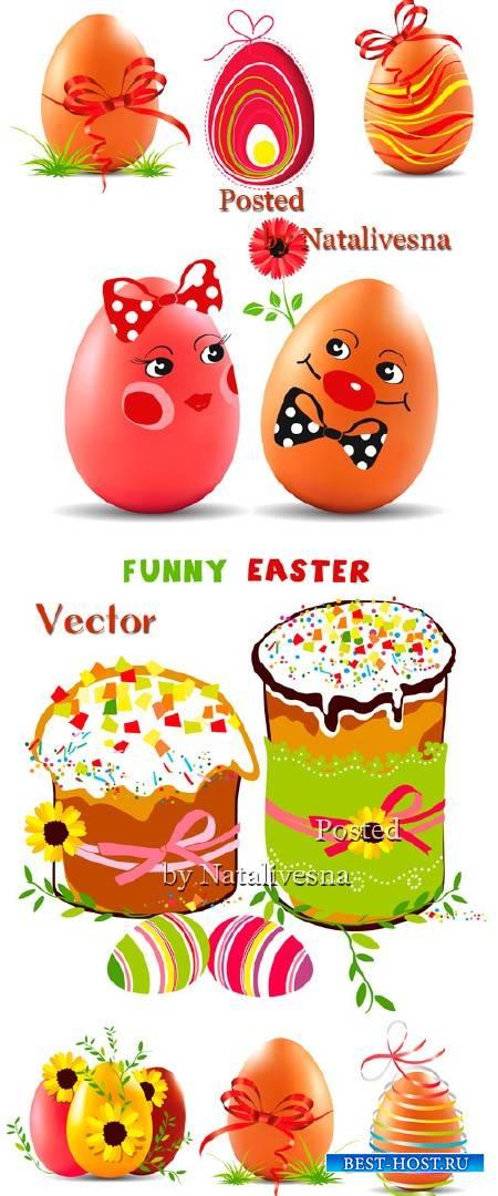Декоративные  пасхальные яйца  в Векторе