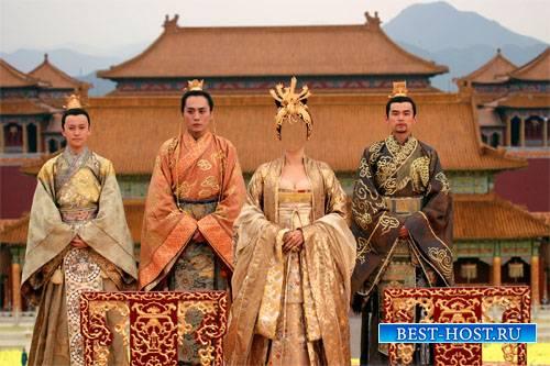 Шаблон для фотомонтажа - Императрица Китая