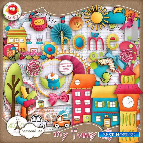 Забавный детский скрап-комплект - Мой весёлый городок