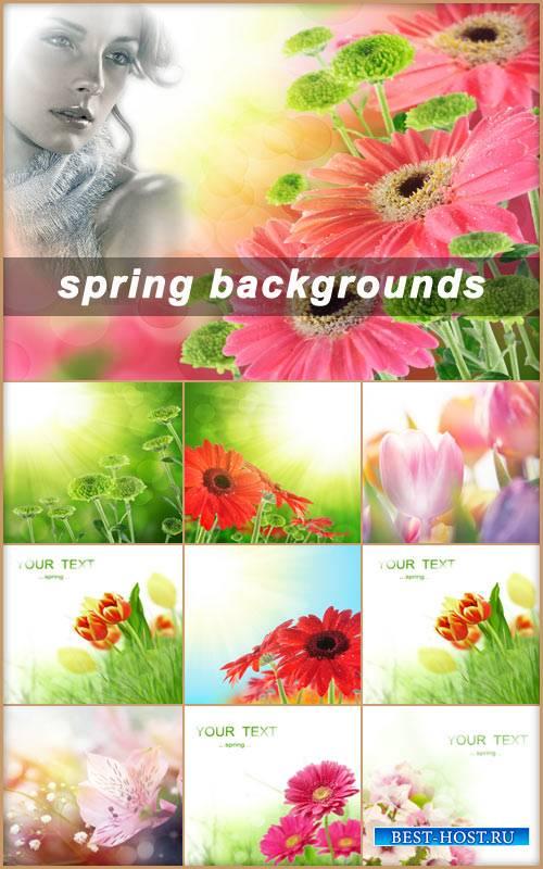 Яркие весенние фоны для фотомонтажа