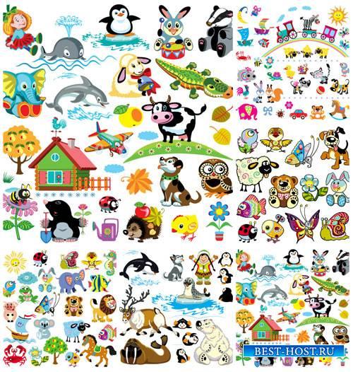 Детский вектор, животные