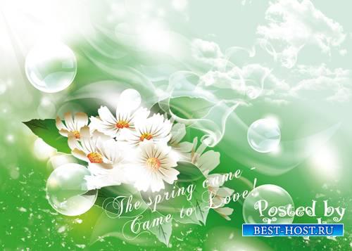 Psd исходник – Весна пришла – пришла любовь
