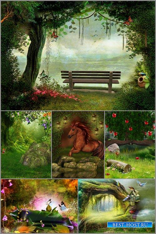 Фоны для фотошопа - Сказочный пейзаж 7