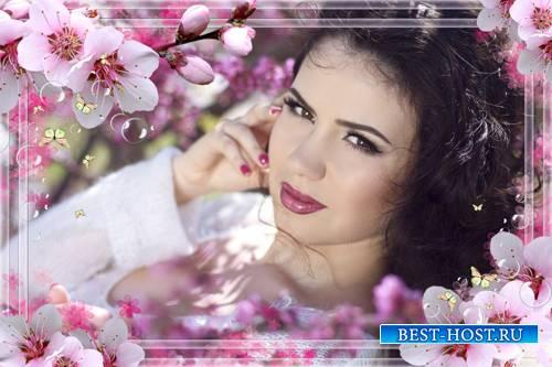 Женский шаблон для фото - Леди-весна