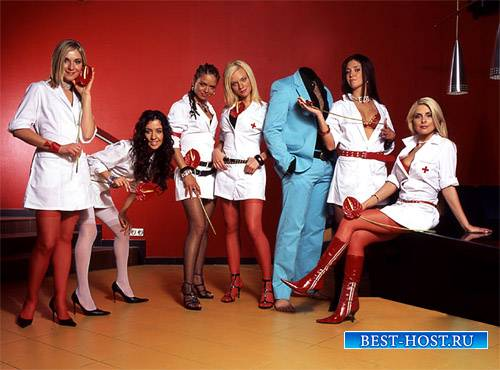 PSD шаблон для мужчин - С хорошими медсестрами