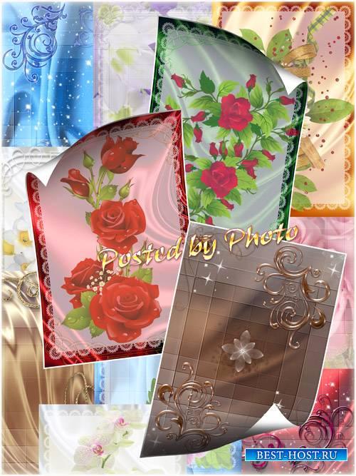 Набор фонов для фотошопа - Красивые цветы